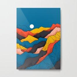 Mountain fields Metal Print