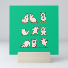 Pig Yoga Mini Art Print