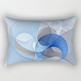 Abstract with Shades of Blue Rectangular Pillow