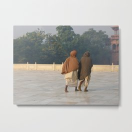 Taj Mahal Pilgrims in Agra, India (2004b) Metal Print