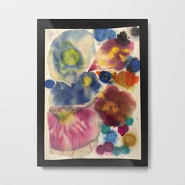 Ripped Canvas Collage Metal Print