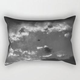 Plane and storm Rectangular Pillow