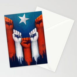 Puerto Rico power of the people Stationery Cards