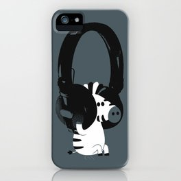 Le zèbre mélomane iPhone Case