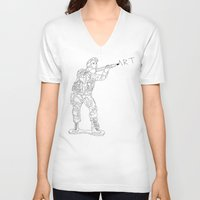 military V-neck T-shirts featuring Military Art by Dario Olibet