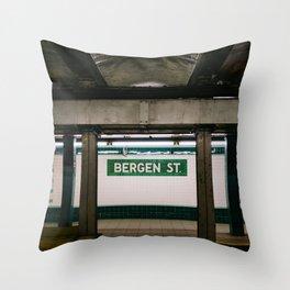 Brooklyn Subway III Throw Pillow