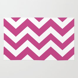 Smitten - violet color - Zigzag Chevron Pattern Rug