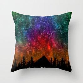 Mountains Stras Throw Pillow