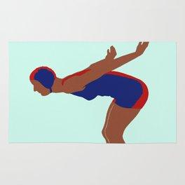 Art Deco Diver Vintage Art Rug
