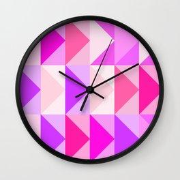 pink vector art Wall Clock