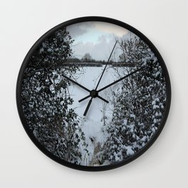 Snowy Heart Wall Clock