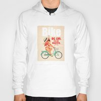 bike Hoodies featuring BIKE by melivillosa