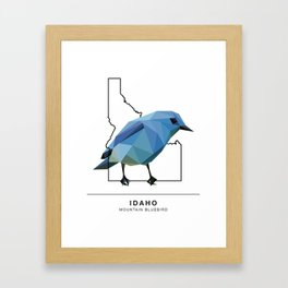 Idaho – Mountain Bluebird Framed Art Print