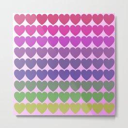 Hearts of multicolor Metal Print