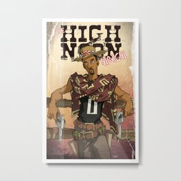 High Noon Hibachi Metal Print