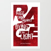 Rage Against the Dying of the Light 1 Art Print