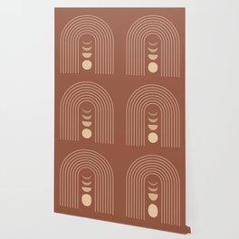 Mid Century Modern Geometric 10 (Moon phases) Wallpaper