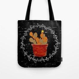 Merry Christmas Cactus Tote Bag