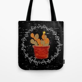 Merry Christmas Cactus Tote Bag