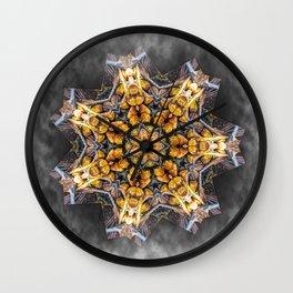 Pandanus Palm Fruit Kaleidoscope Wall Clock