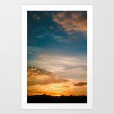 Where the sun rises Art Print