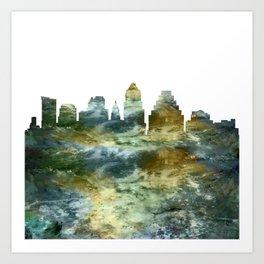 Austin City Skyline Texas Art Print