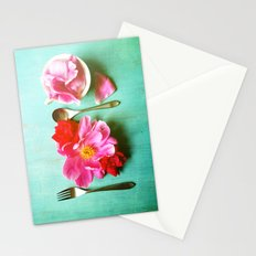 You Are What You Eat - Aqua Stationery Cards