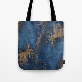 NAVY BLUE AND GOLD PATTERN Tote Bag
