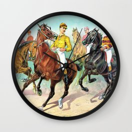Louis Maurer - Eager for the race - Digital Remastered Edition Wall Clock