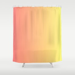 Color gradient 14. red and yellow. abstraction,abstract,minimalism,plain,ombré Shower Curtain