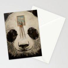Panda window cleaner 02 Stationery Cards