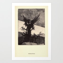 """""""Archangel"""" from """"Trees at Night"""" by Art Young Art Print"""