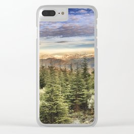 """Wildderness"". Adventure at the mountains... Clear iPhone Case"