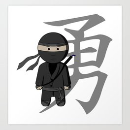 Ninja - Bravery Art Print