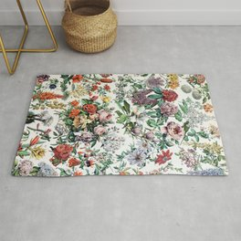 Adolphe Millot - Fleurs C - French vintage poster Rug