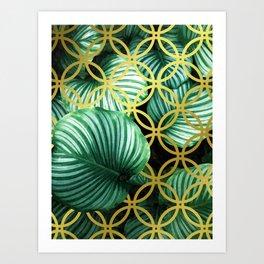 Leaves Geometric Modern Illustration Art Print