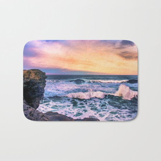 Sunset of the Bay of Biscay Bath Mat