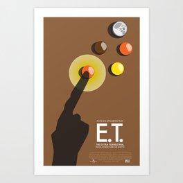 E.T. Movie Poster Art Print