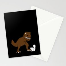 Jurassic Pixel Stationery Cards