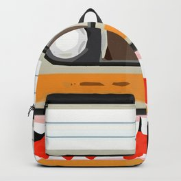 The cassette tape golden tooth Backpack