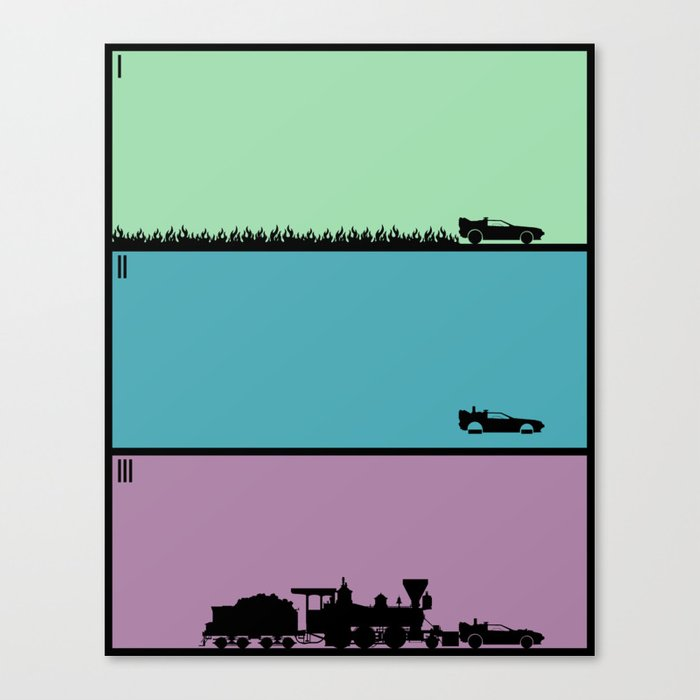 Back to the Future Trilogy Canvas Print