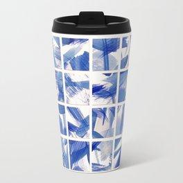 Chinoiserie Blue and White China 16 Square Tile Travel Mug