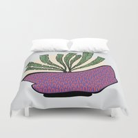 weed Duvet Covers featuring weed by Aleksandra Salevic