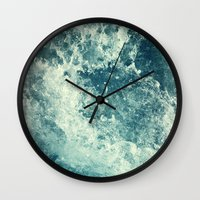 friends Wall Clocks featuring Water I by Dr. Lukas Brezak