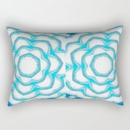 Cyan Glow Kaleidoscope 18 Rectangular Pillow