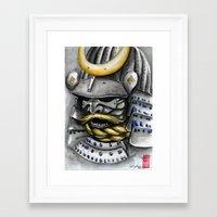 samurai Framed Art Prints featuring Samurai by rchaem