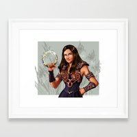 xena Framed Art Prints featuring Allison as Xena by littlecofiegirl