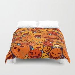 Halloween pumpkin pattern Duvet Cover