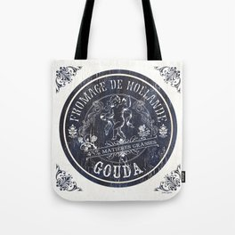 Indigo Vintage French Cheese Label 1 Tote Bag