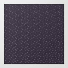 Purple field line pattern Canvas Print